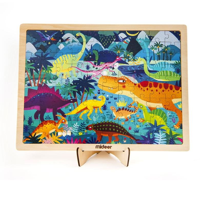 100pc Framed Standing Dinosaurs Puzzle