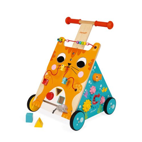 Janod Wooden Cat Activity Walker