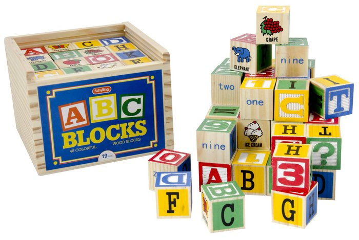 Alphabet Blocks 48 Piece Set