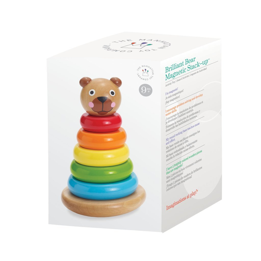 Magnetic Wooden Bear Stacking Rings
