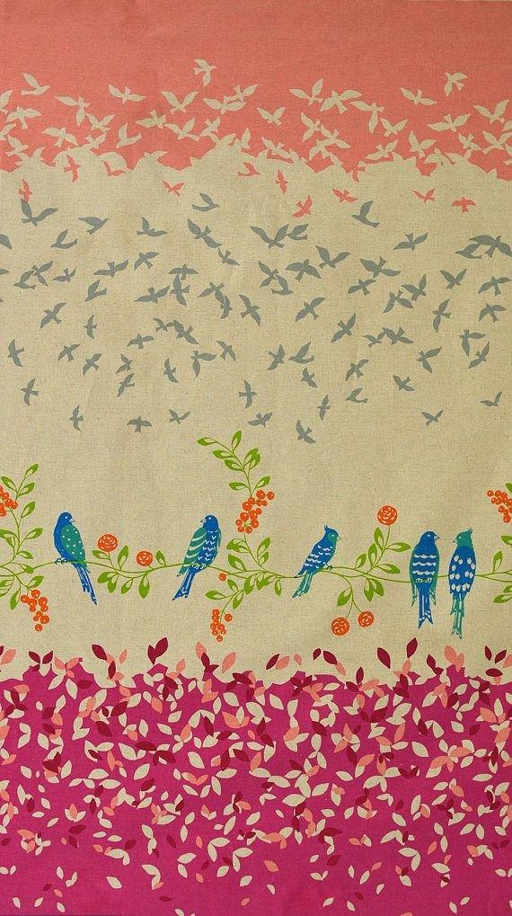 Birdsong Echino Canvas