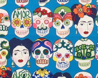 Frida Sugar Skulls Laminated