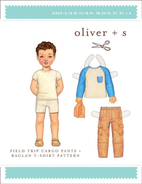 Field trip Cargo Pants + Raglan T-Shirt  6 months plus