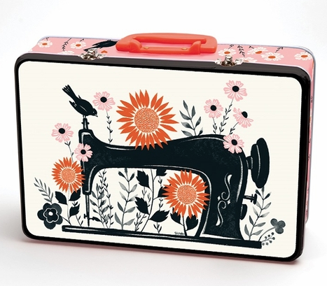 Ruby Star Sewing Tin