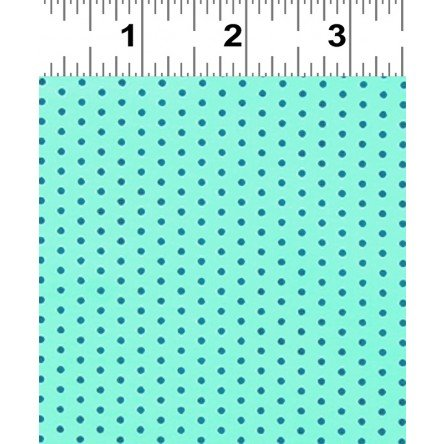 Star Dot Gingham Mint Voile
