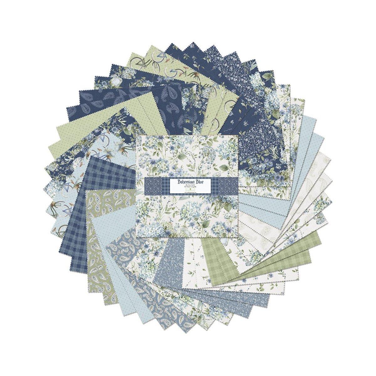 Bohemian Blue 10 Karat Crystals - 42 - 10-inch Squares - Lisa Audit