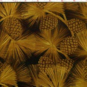 Outdoor Splendor Pine Cones Gold