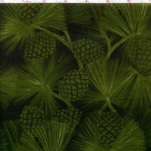 Outdoor Splendor Pine Cones Green, Kona Bay