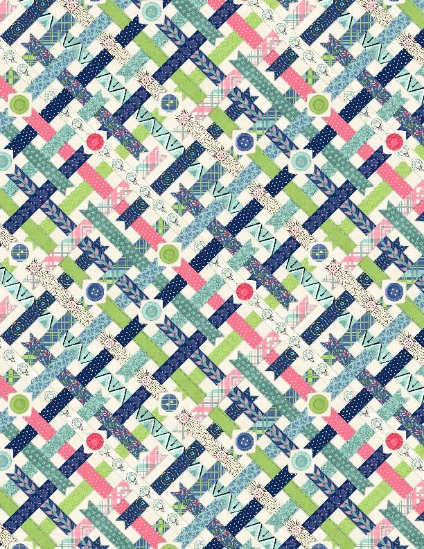 Ribbons & Buttons Cream - Sew Little Time by Danielle Leone - 27619 141
