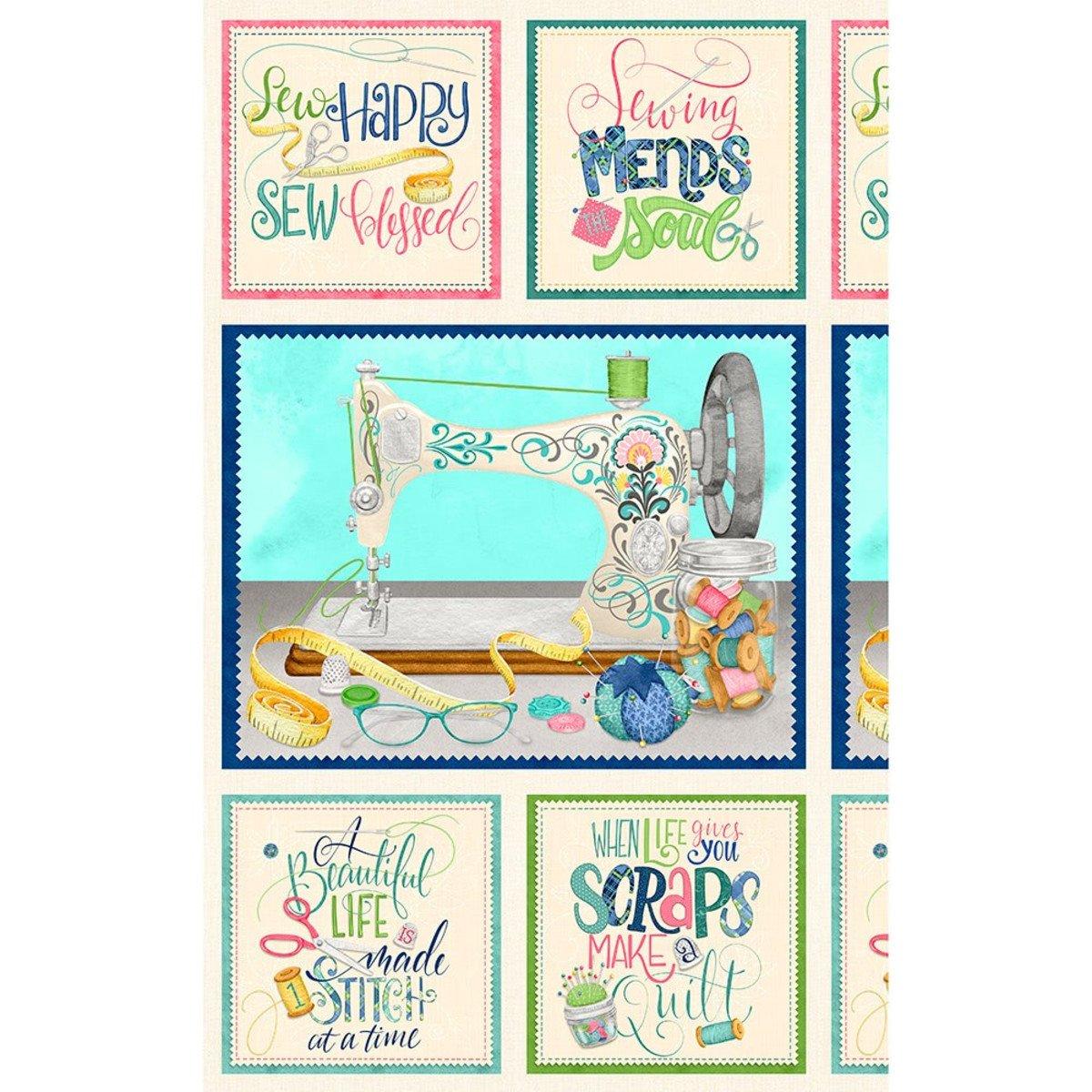 Sew Little Time Panel (24 x wof) Danielle Leone