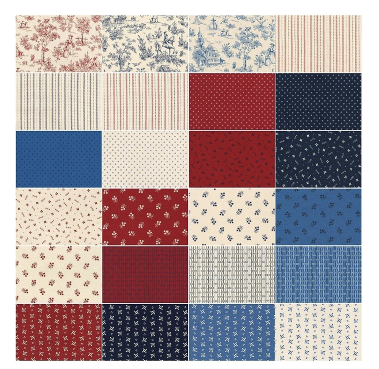 Betsy's Basket Mini Charms (84 Pieces) - Darlene Zimmerman - Kaufman Fabrics