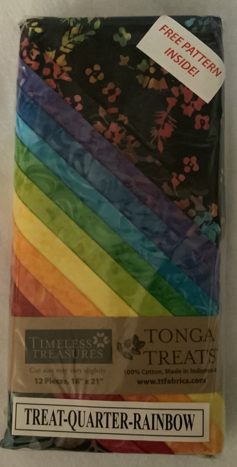 Tonga Treat Fat Quarters Rainbow (18in x 21in) 12pcs - Timeless Treasures