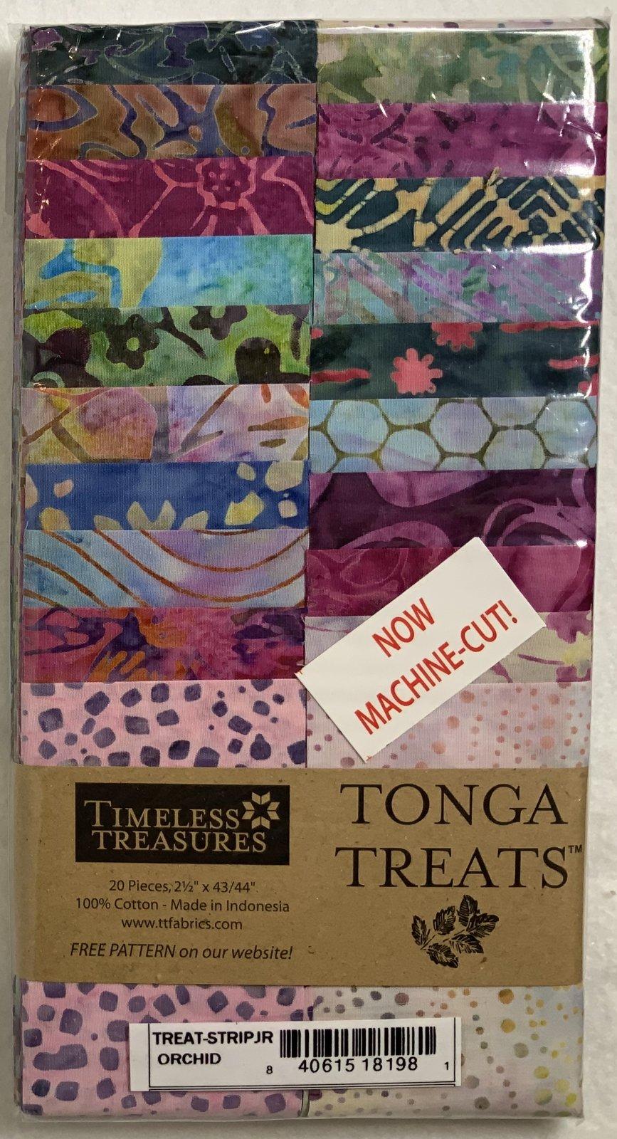 Tonga Treat Strip JR Orchid, (20 pcs 2.5 x44) - Timeless Treasures
