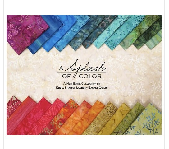 A Splash of Color 5 x5 inch squares (44 Pieces) - Laundry Basket Quilts - Andover Fabrics