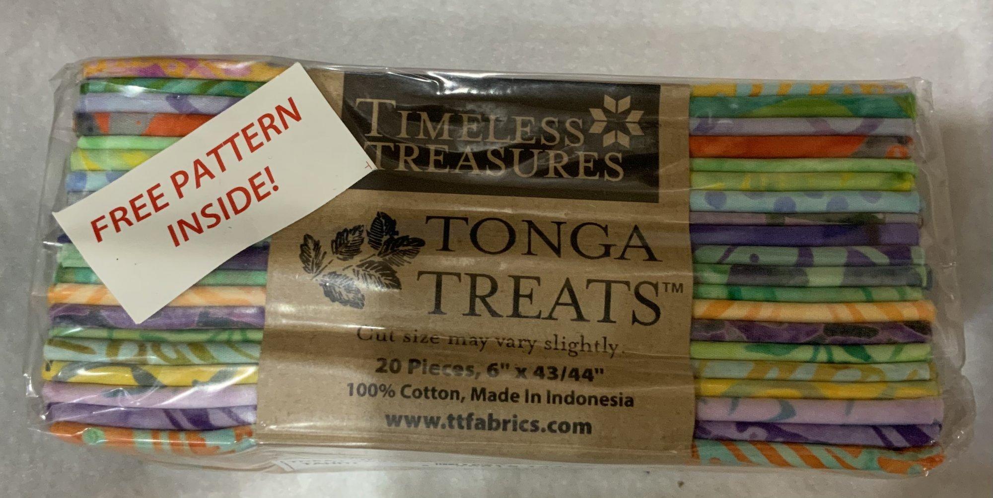 Tonga Treat 6 Pack Tahiti (20 Pieces, 6 inch x 44 inch) - Timeless Treasures Fabric