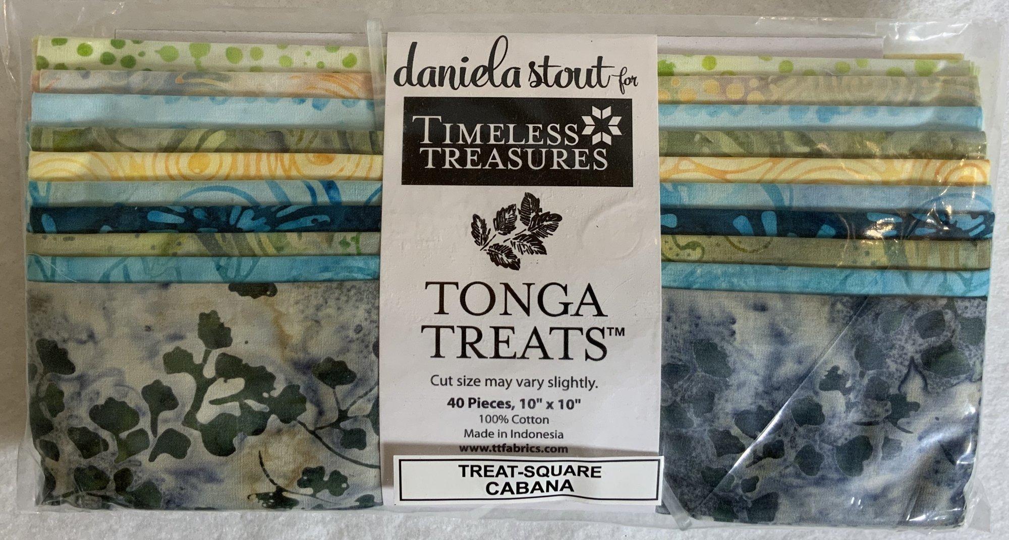 Tonga Treat Square Batik Cabana, (40 pcs 10x10) - Daniela Stout - Timeless Treasures