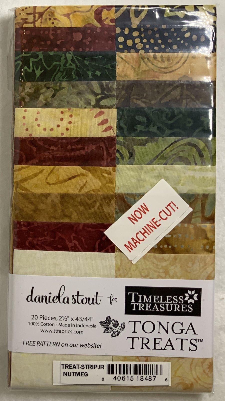 Tonga Treat Strip JR Nutmeg, (20 pcs 2.5 x44) - Daniela Stout - Timeless Treasures