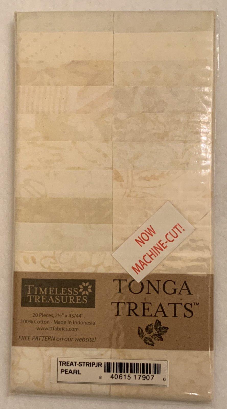 Tonga Treat Strip JR Pearl, (20 pcs 2.5 x44) - Timeless Treasures