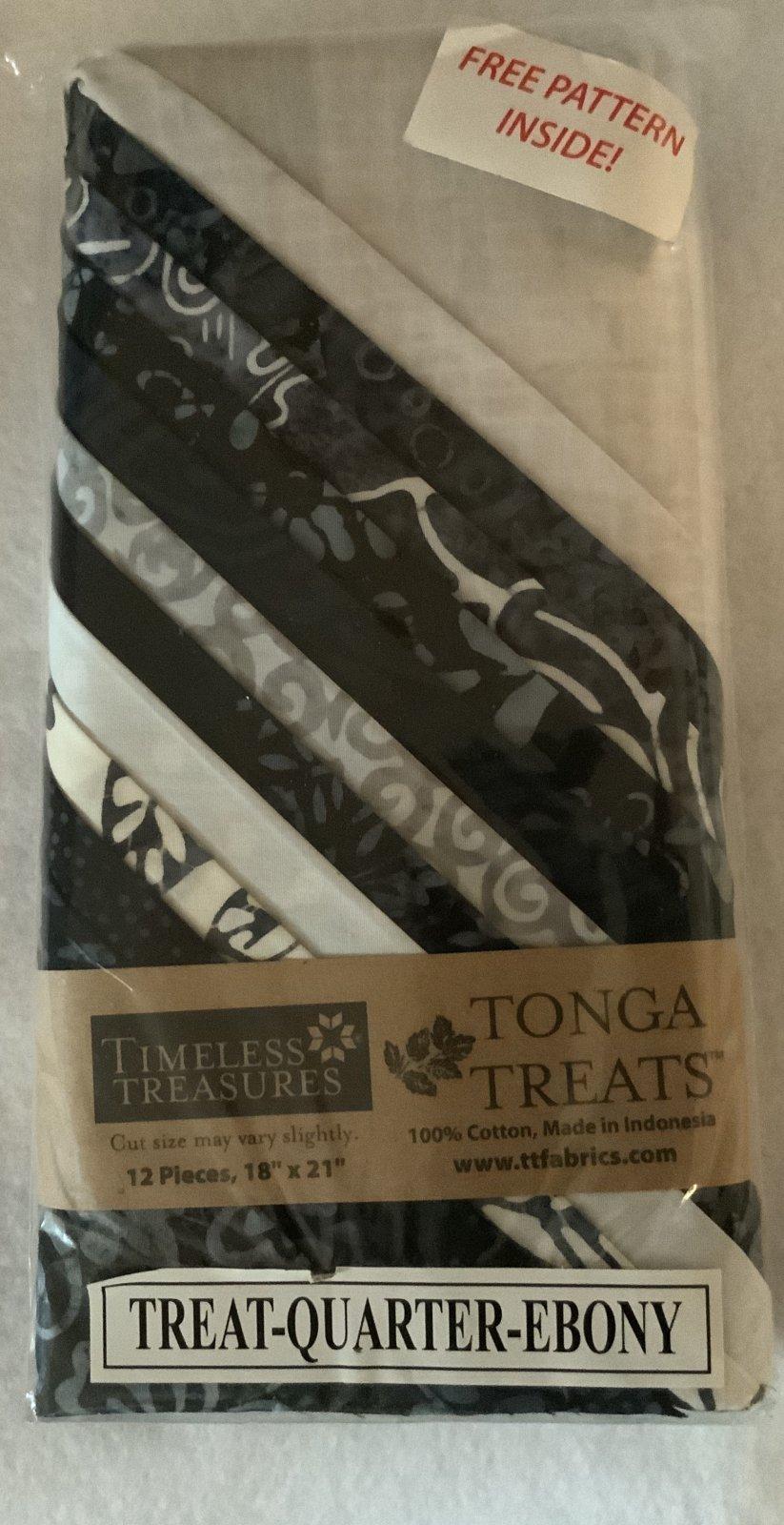 Tonga Treat Fat Quarters Ebony (18in x 21in) 12pcs - Timeless Treasures