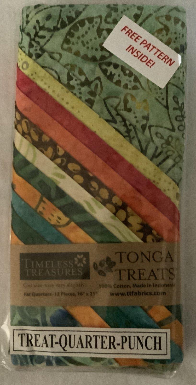 Tonga Treat Fat Quarters Punch (18in x 21in) 12pcs - Timeless Treasures
