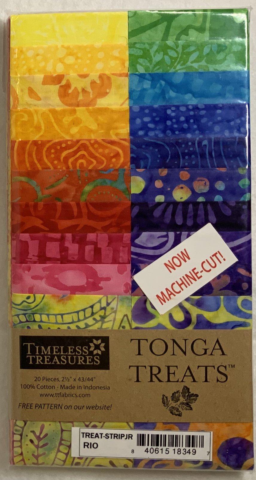 Tonga Treat Strip JR Rio, (20 pcs 2.5 x44) - Timeless Treasures