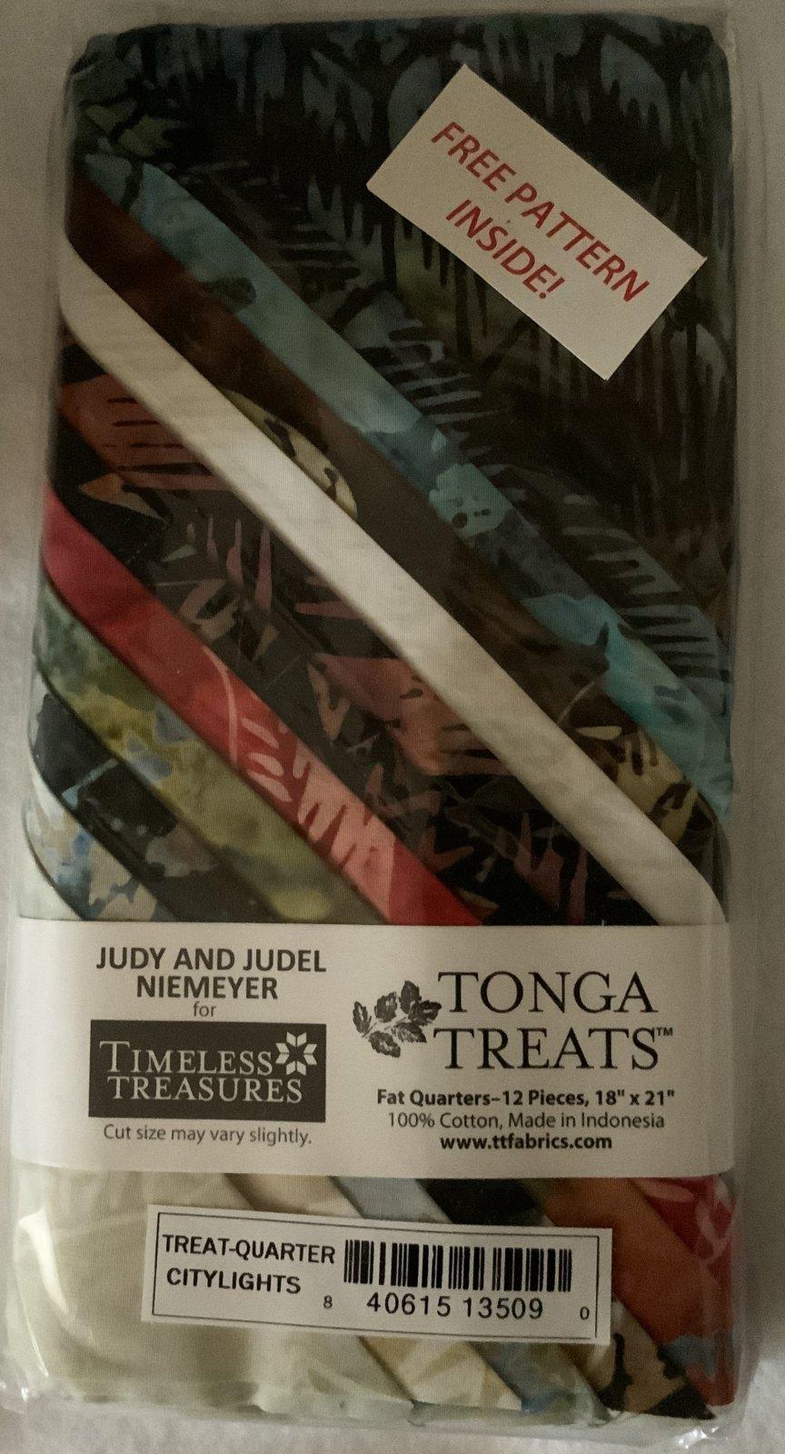 Tonga Treat Fat Quarters City Lights (18in x 21in) 12pcs - Timeless Treasures