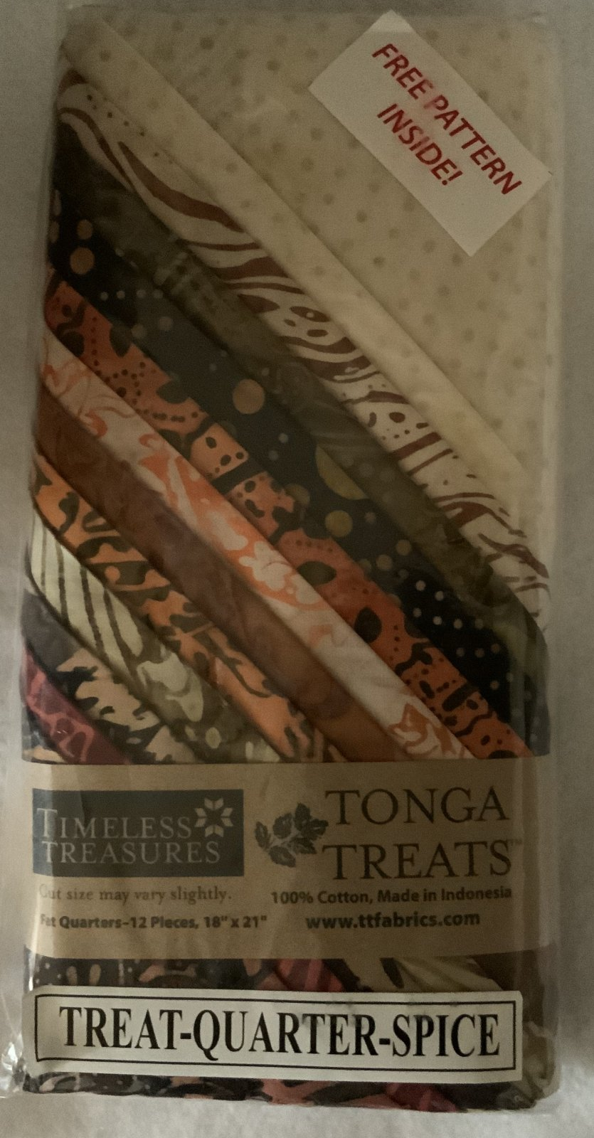 Tonga Treat Fat Quarters Spice (18in x 21in) 12pcs - Timeless Treasures