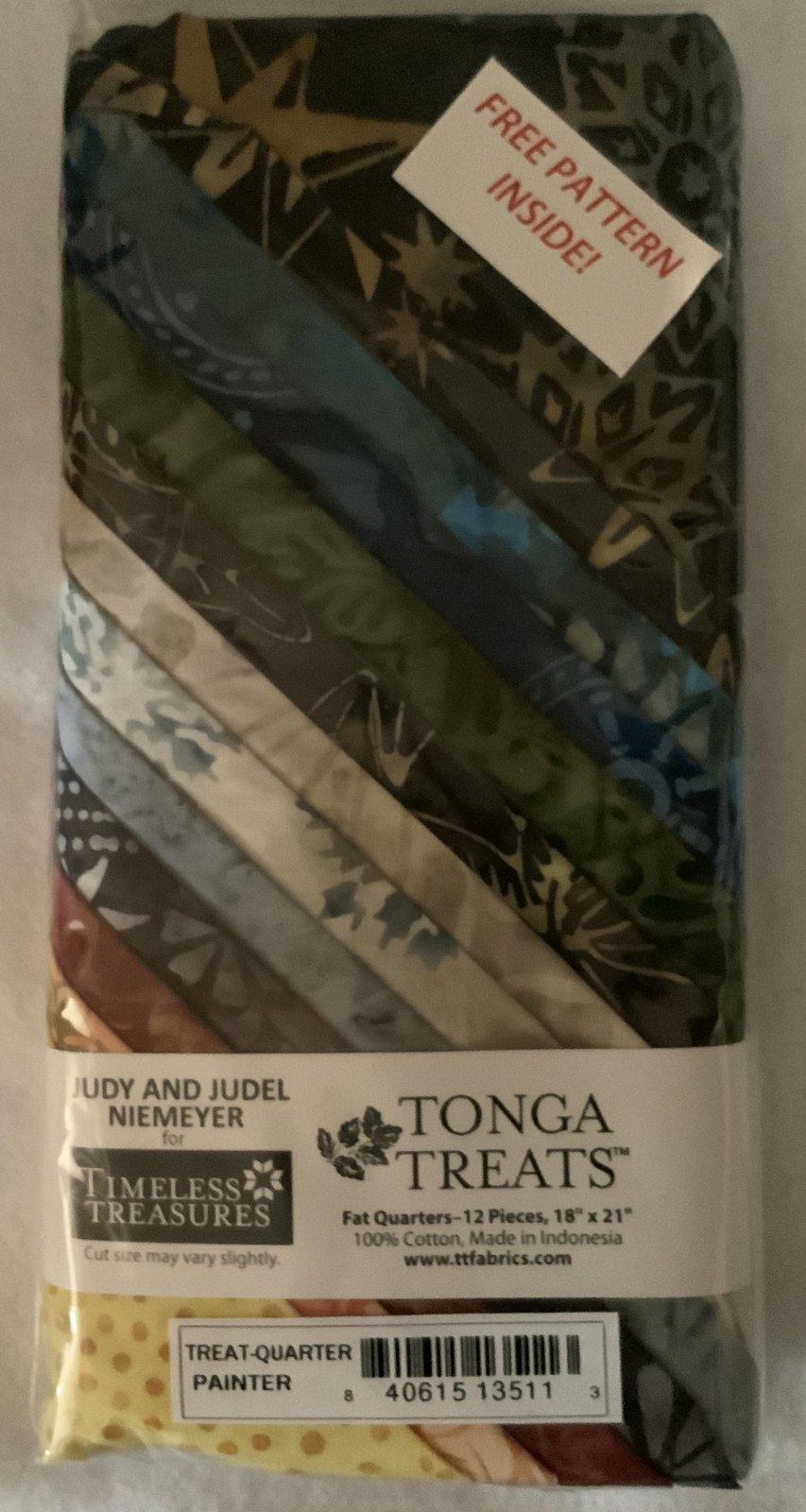 Tonga Treat Fat Quarters Painter (18in x 21in) 12pcs - Timeless Treasures
