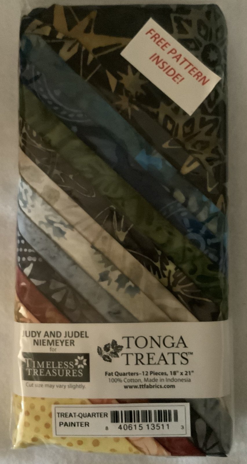 Tonga Treat Fat Quarters Jupiter (18in x 21in) 12pcs - Timeless Treasures