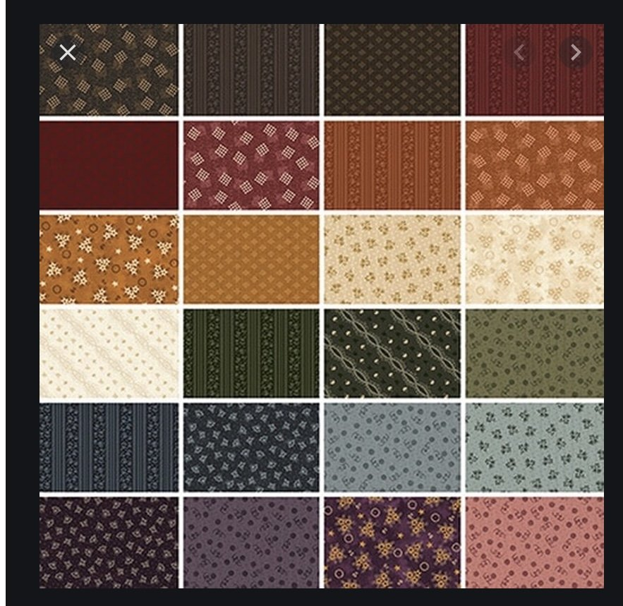 Abbys Treasures Fat Quarter Bundle (24 Pieces) - Missie Carpenter - Blank Quilting