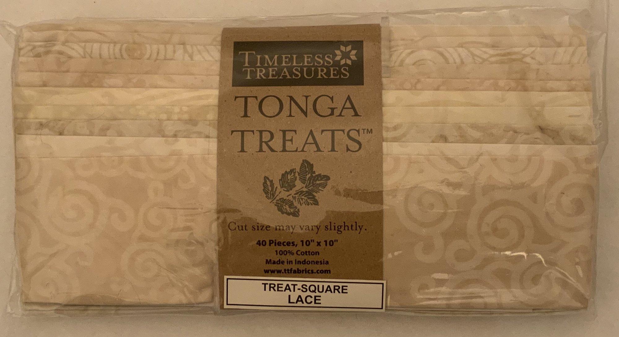Tonga Treat Square Batik Lace, (40 pcs 10x10) - Timeless Treasures