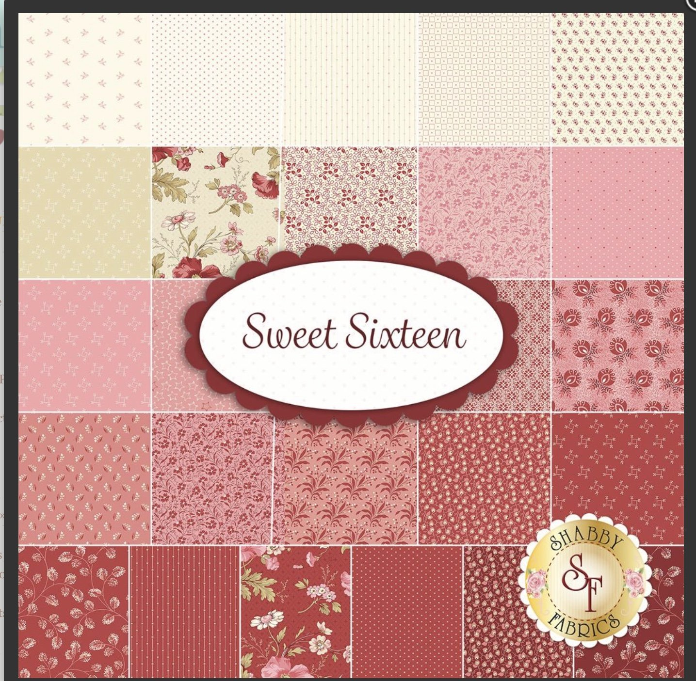Sweet Sixteen 10 inch squares (42 Pieces) - Laundry Basket Quilts - Andover Fabrics