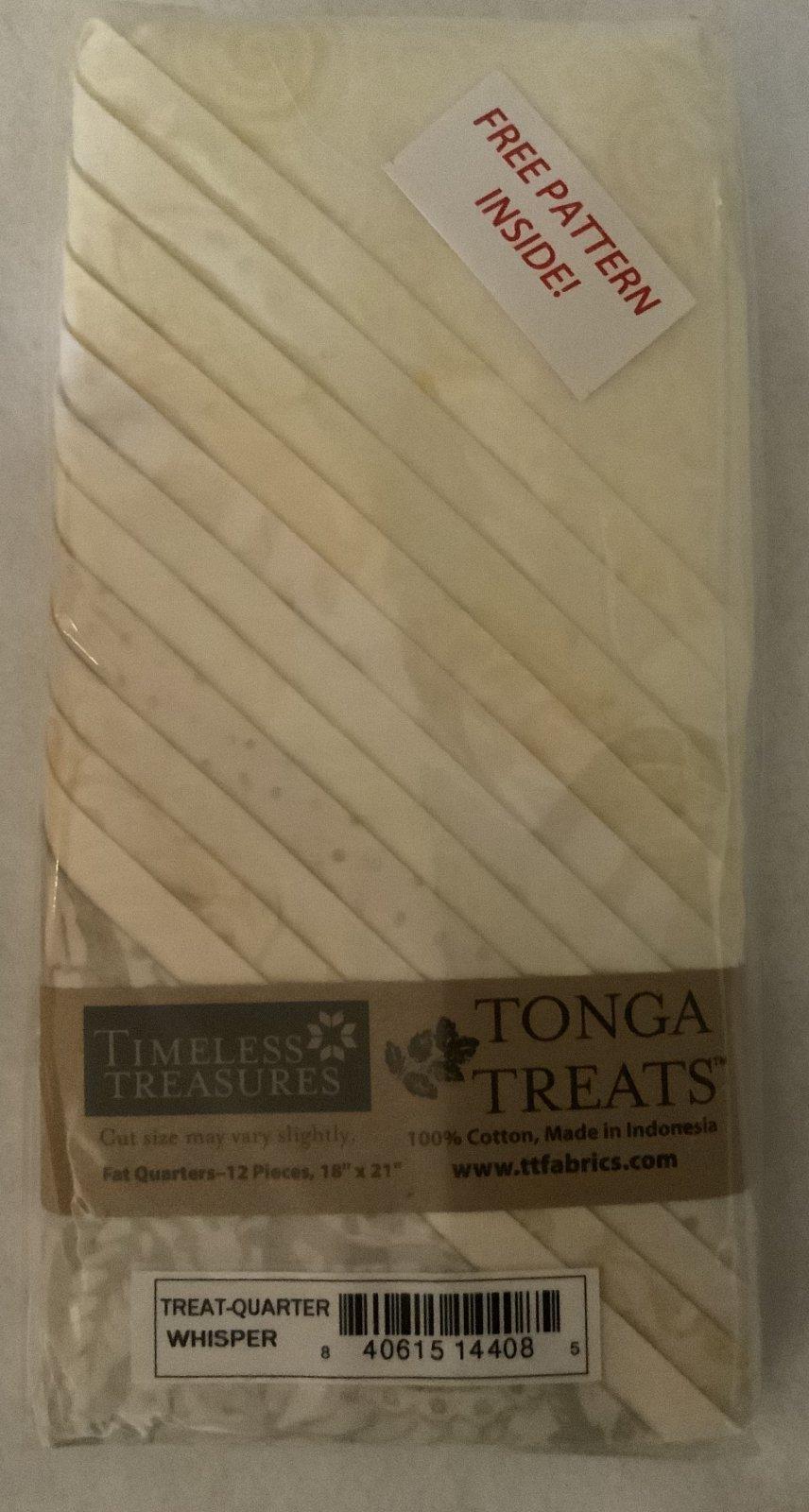 Tonga Treat Fat Quarters Whisper (18in x 21in) 12pcs - Timeless Treasures
