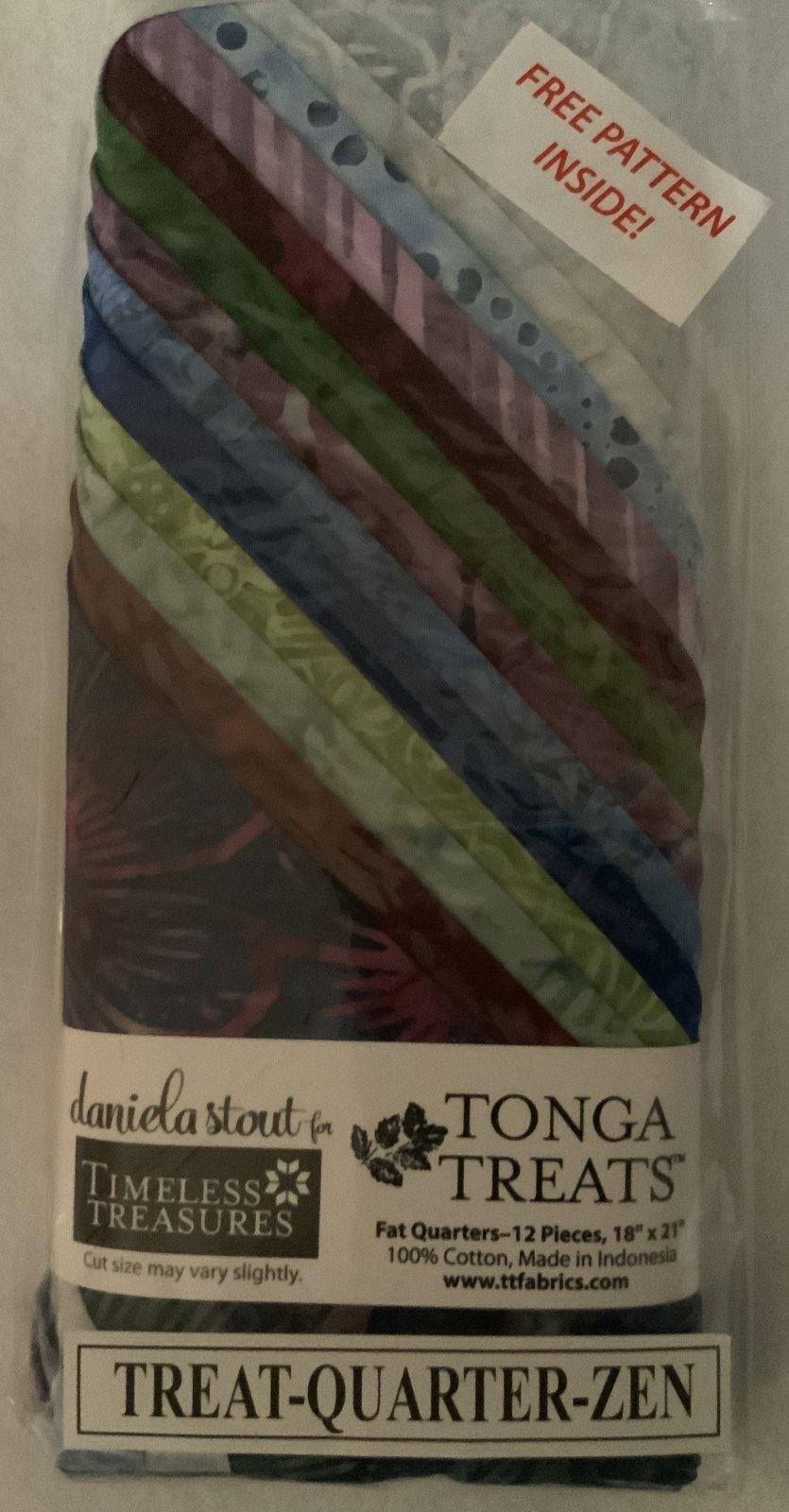 Tonga Treat Fat Quarters Zen (18in x 21in) 12pcs - Timeless Treasures