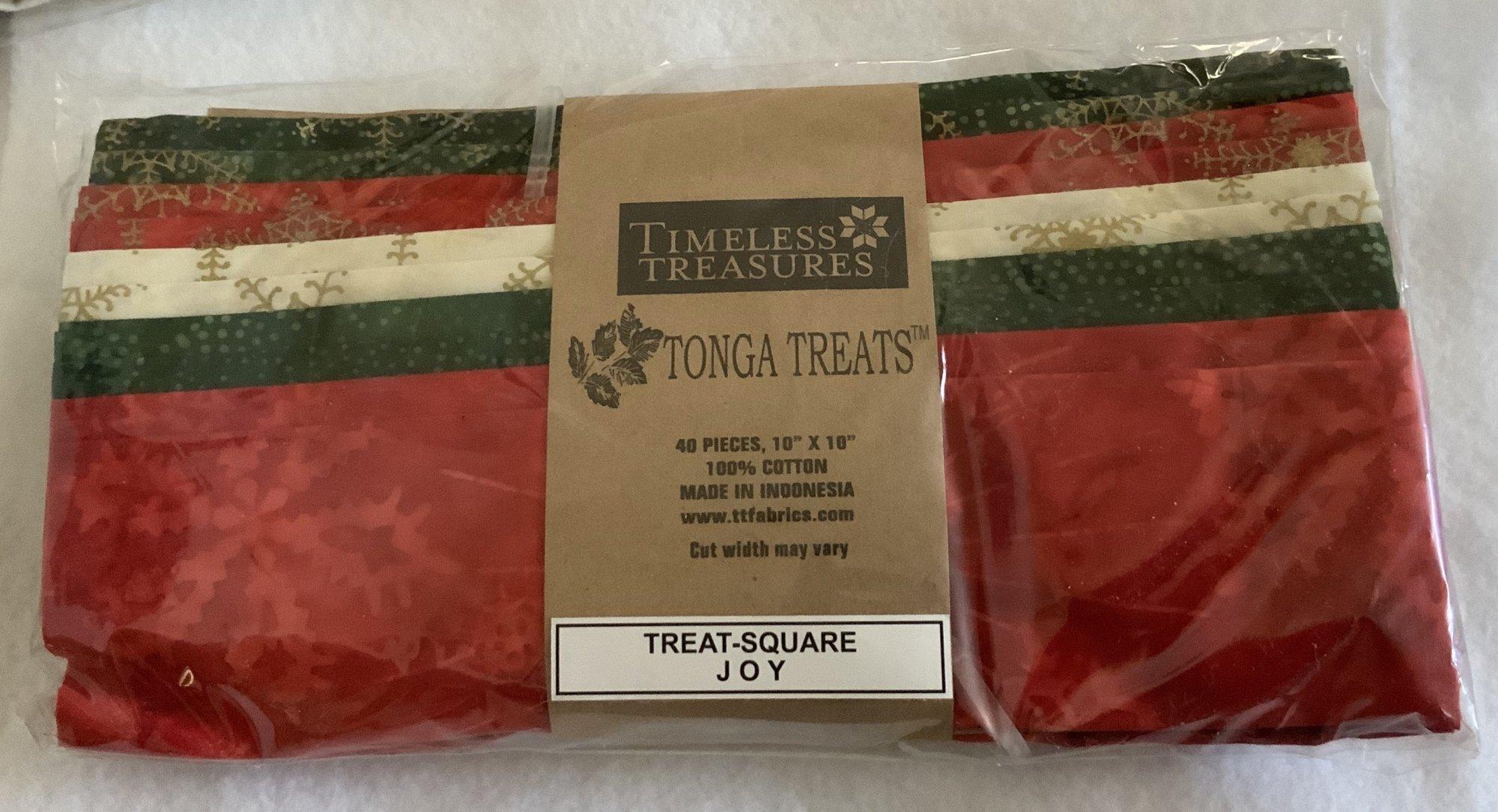 Tonga Treat Square Batik Joy, (40 pcs 10x10) - Timeless Treasures