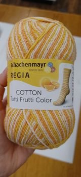 Regia Cotton Tutti Frutti  Sock Yarn 100 gr (72% Cotton)