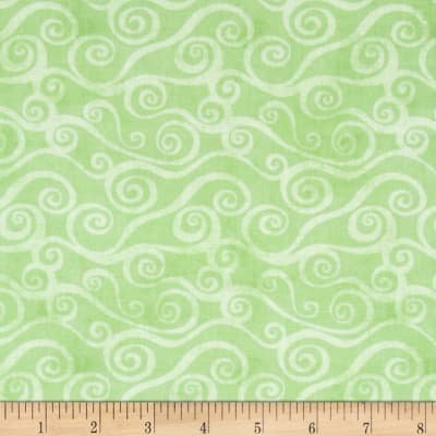 Essentials - Swirly Scroll - Green 39081
