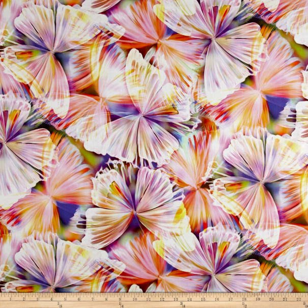 Punch Butterflies 104in Wide Back Digitally Printed