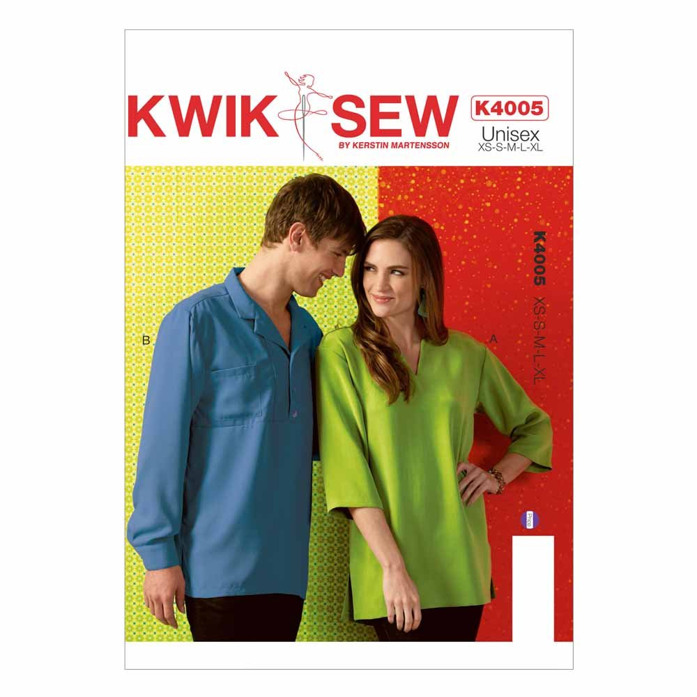 Kwik Sew Unisex Shirts  XS to XL Adult