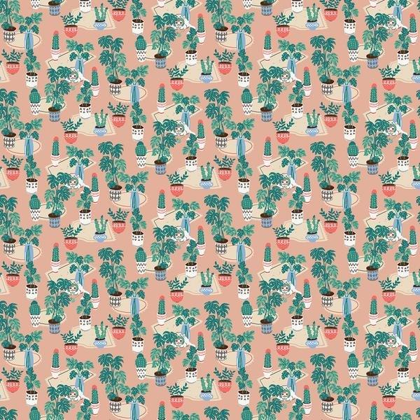 Catsforhats Cactus 100% Cotton 42-44 Wide
