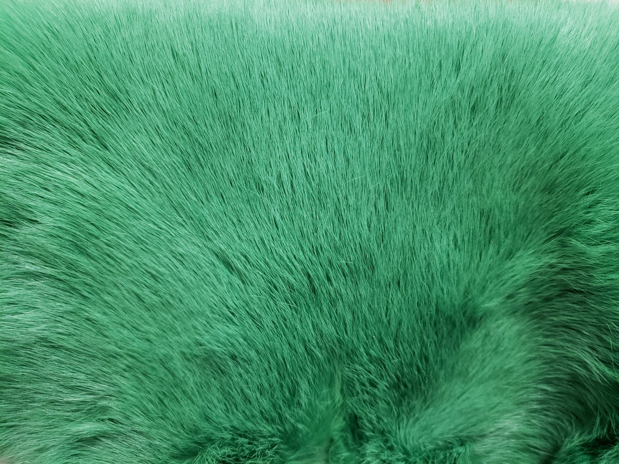 Rabbit Fur Pelt - Dyed Green