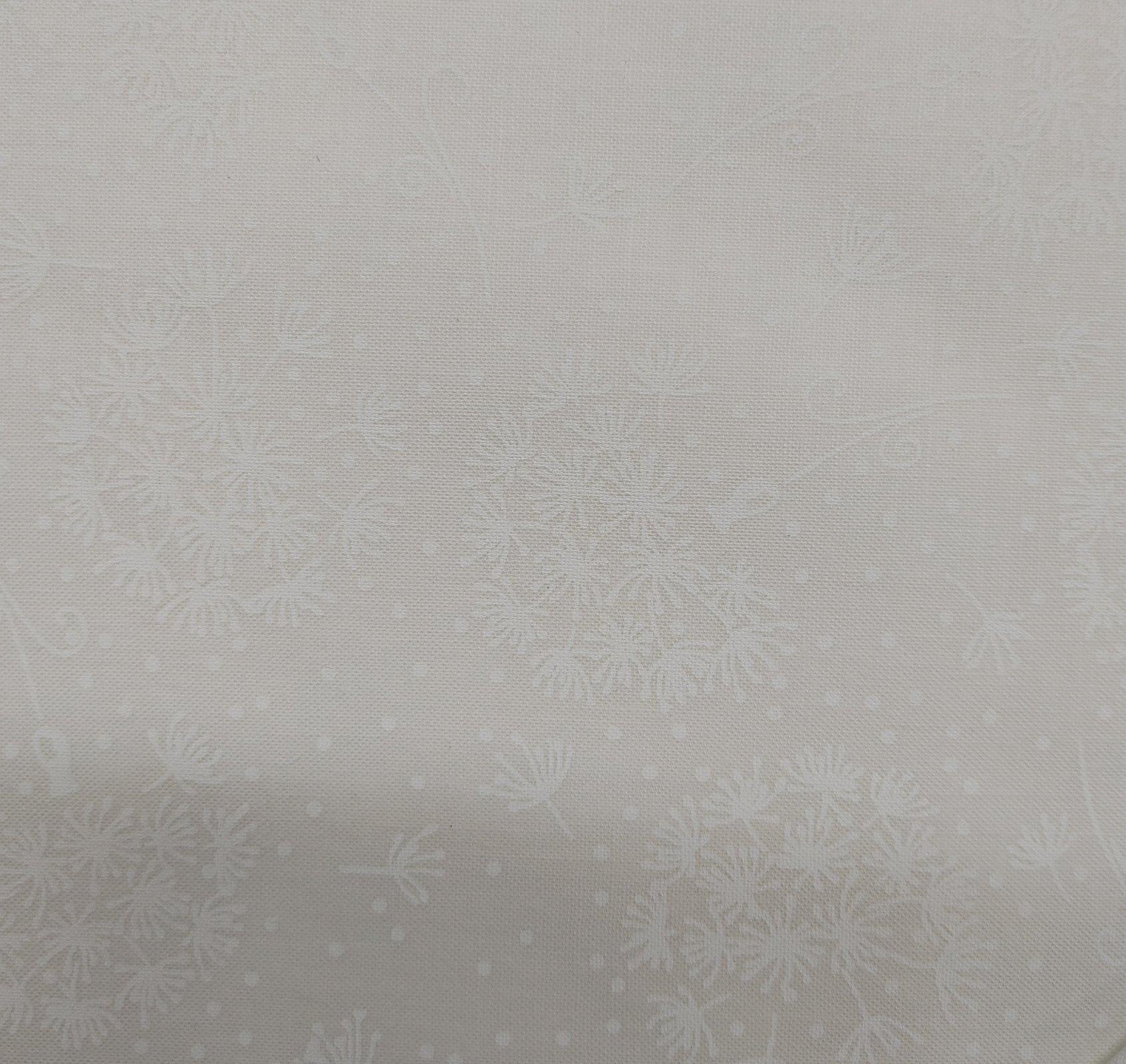 Dandylion Fluff White on White 100% Cotton 42-44Wide