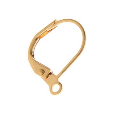 John Bead Lever Back  Earrings Gold Finish 50 pcs