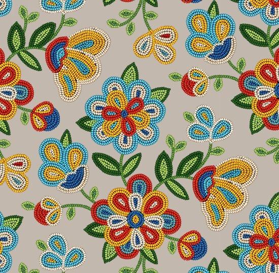 Elizabeth Studios - Tucson Sepia Floral  100% Cotton  42-44 Wide