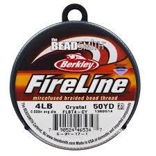 The Beadsmith Fireline 4 lb 50 yd  Crystal