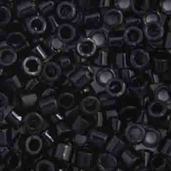 Miyuki DELICA Beads Black Opaque 11/0   50 grams