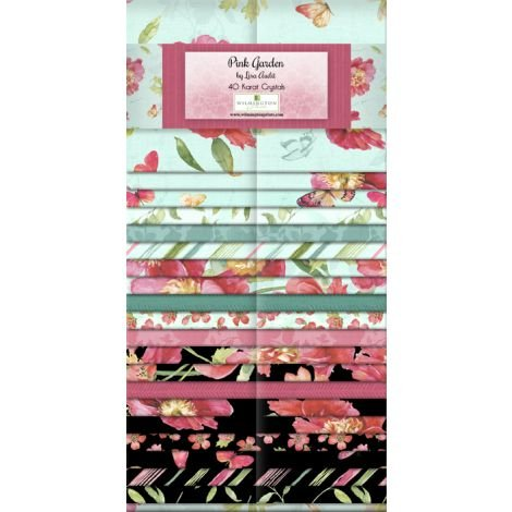 Pink Garden by Lisa Audit 40 x 2.5 Strips 100% Cotton