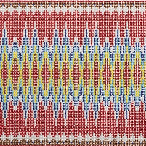 Easy Cut Trim Sheet  24 x 40 Cm Southwestern Zig Zag Red/Yellow