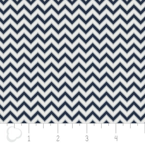 Zigzag - Navy Blue - White