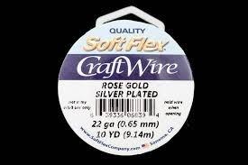 Soft Flex Craft Wire  Rose Gold 24 ga / 15 yds